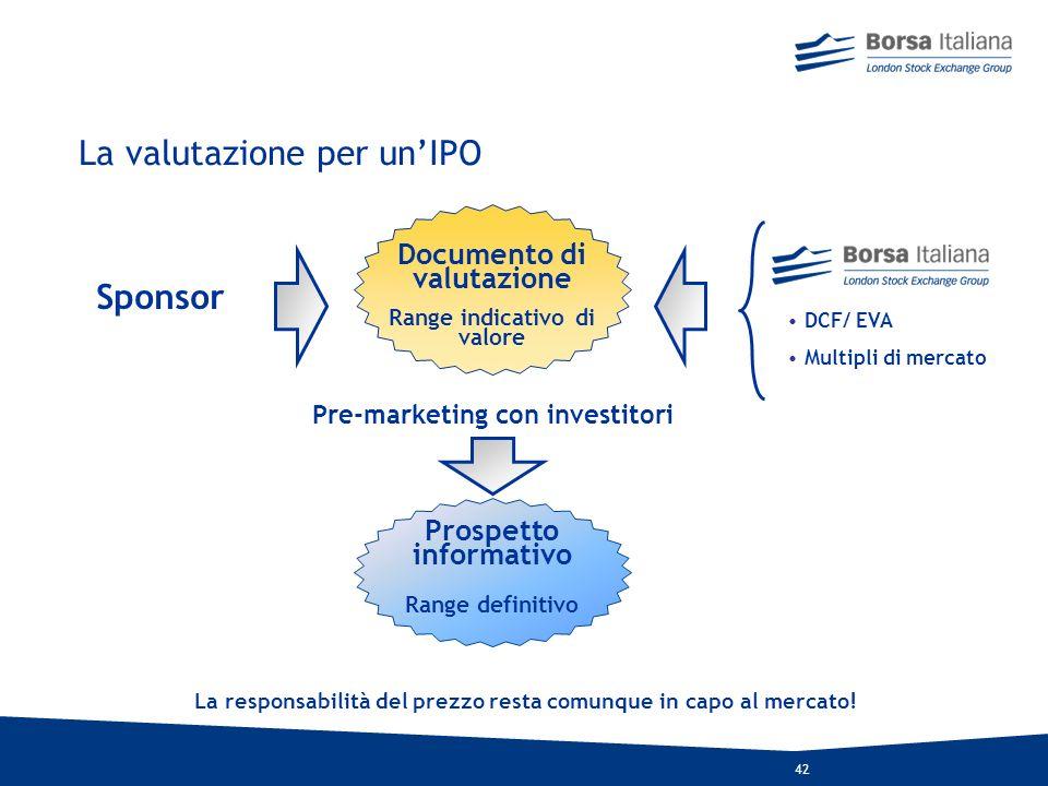 La valutazione per un'IPO