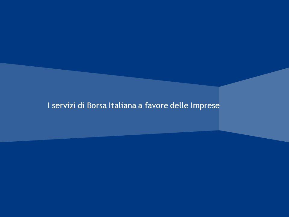 I servizi di Borsa Italiana a favore delle Imprese