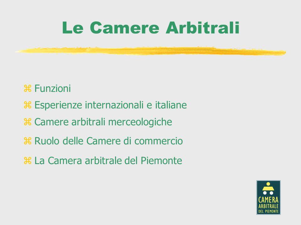 Le Camere Arbitrali Funzioni Esperienze internazionali e italiane