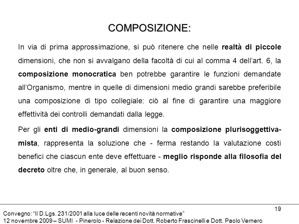 COMPOSIZIONE:
