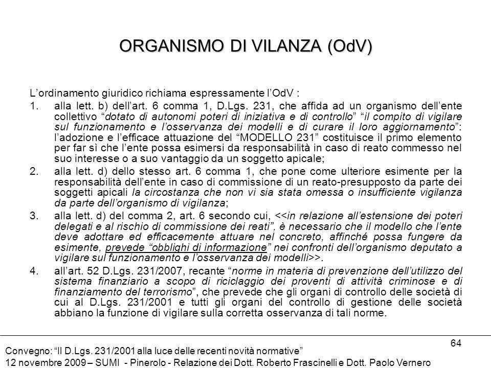 ORGANISMO DI VILANZA (OdV)