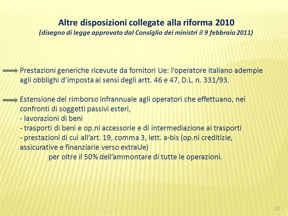 Altre disposizioni collegate alla riforma 2010