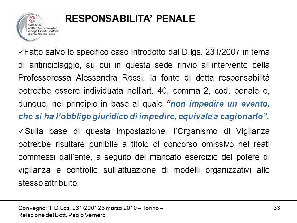 RESPONSABILITA' PENALE