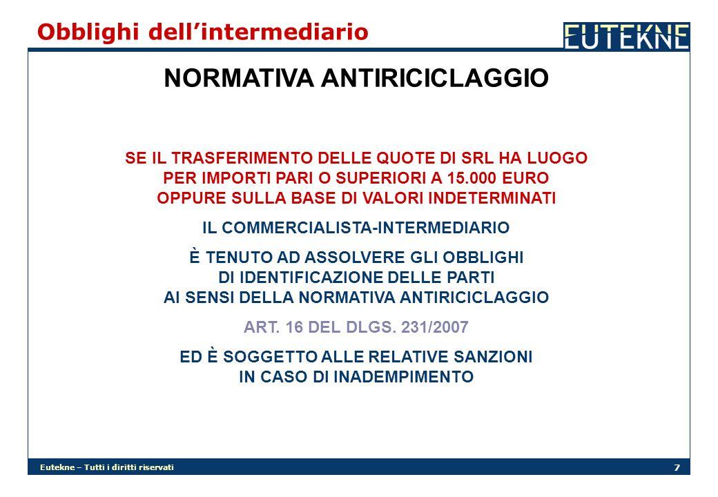 NORMATIVA ANTIRICICLAGGIO