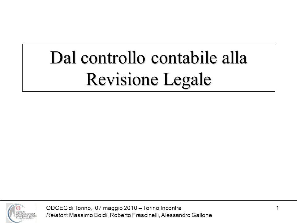 Dal controllo contabile alla Revisione Legale