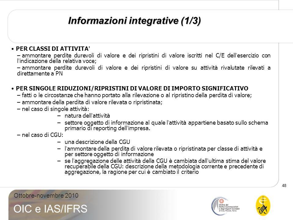Informazioni integrative (1/3)