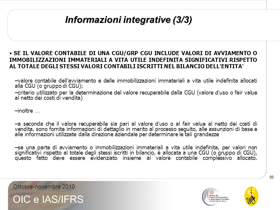 Informazioni integrative (3/3)