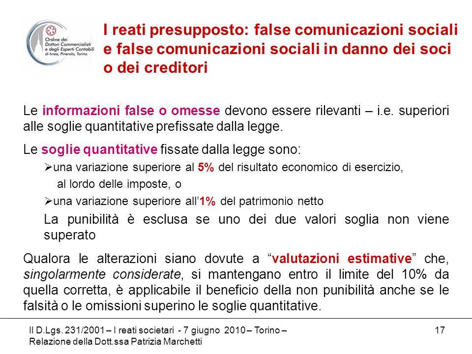 I reati presupposto: false comunicazioni sociali e false comunicazioni sociali in danno dei soci o dei creditori