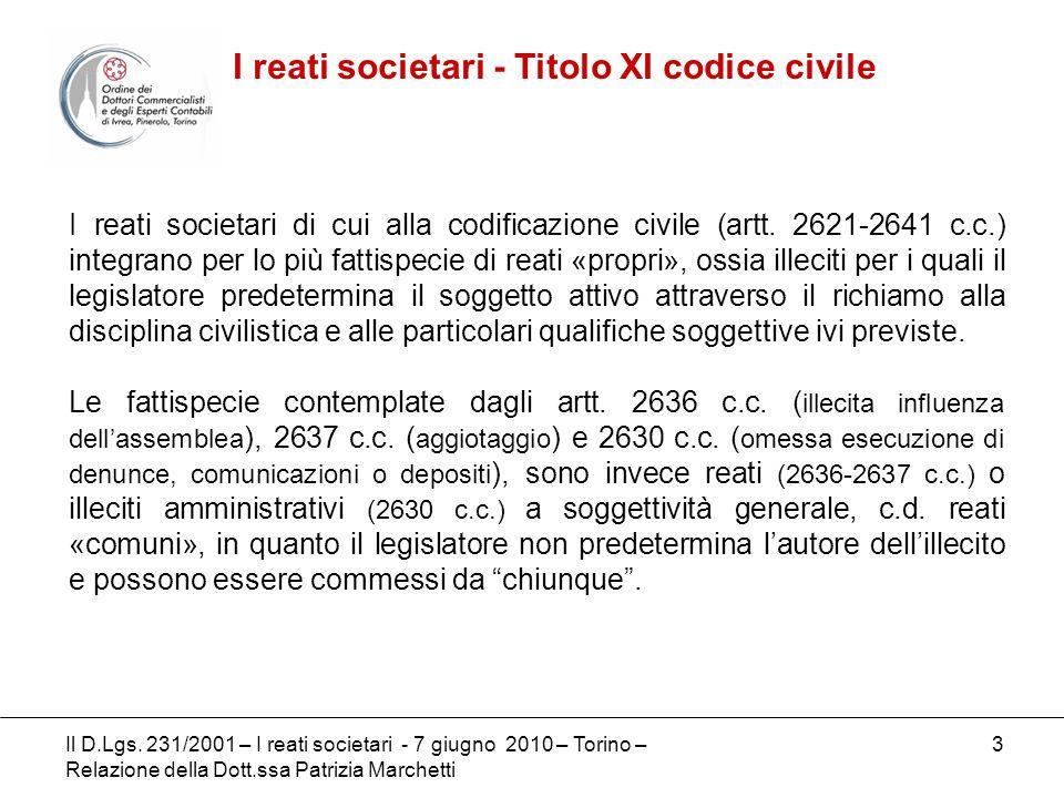 I reati societari - Titolo XI codice civile