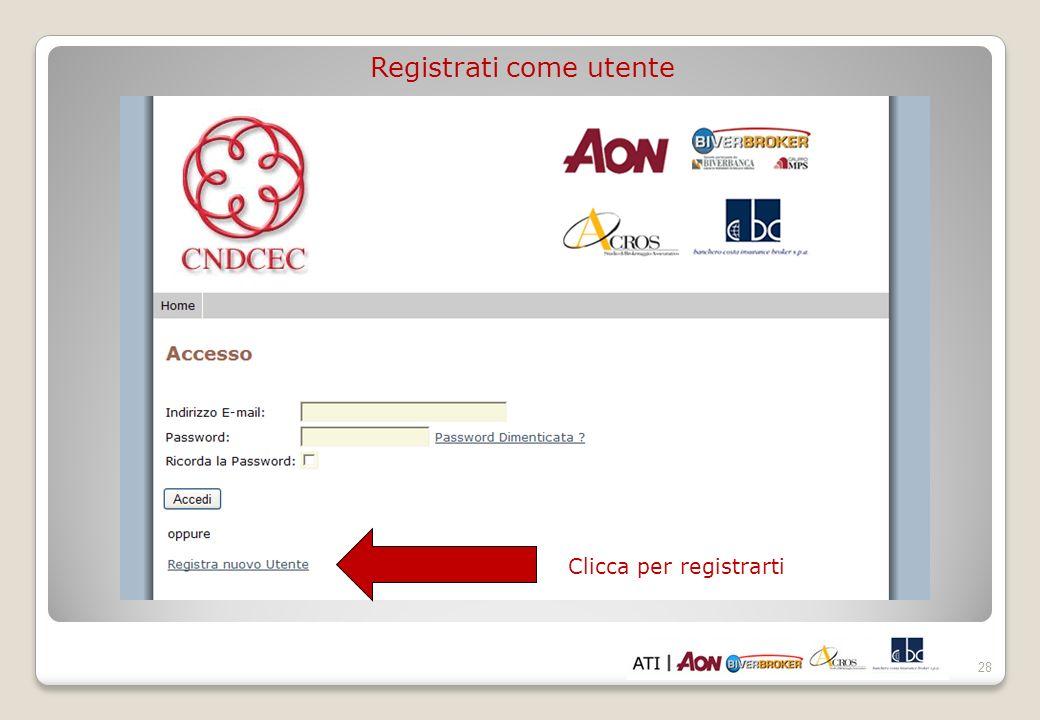 Registrati come utente