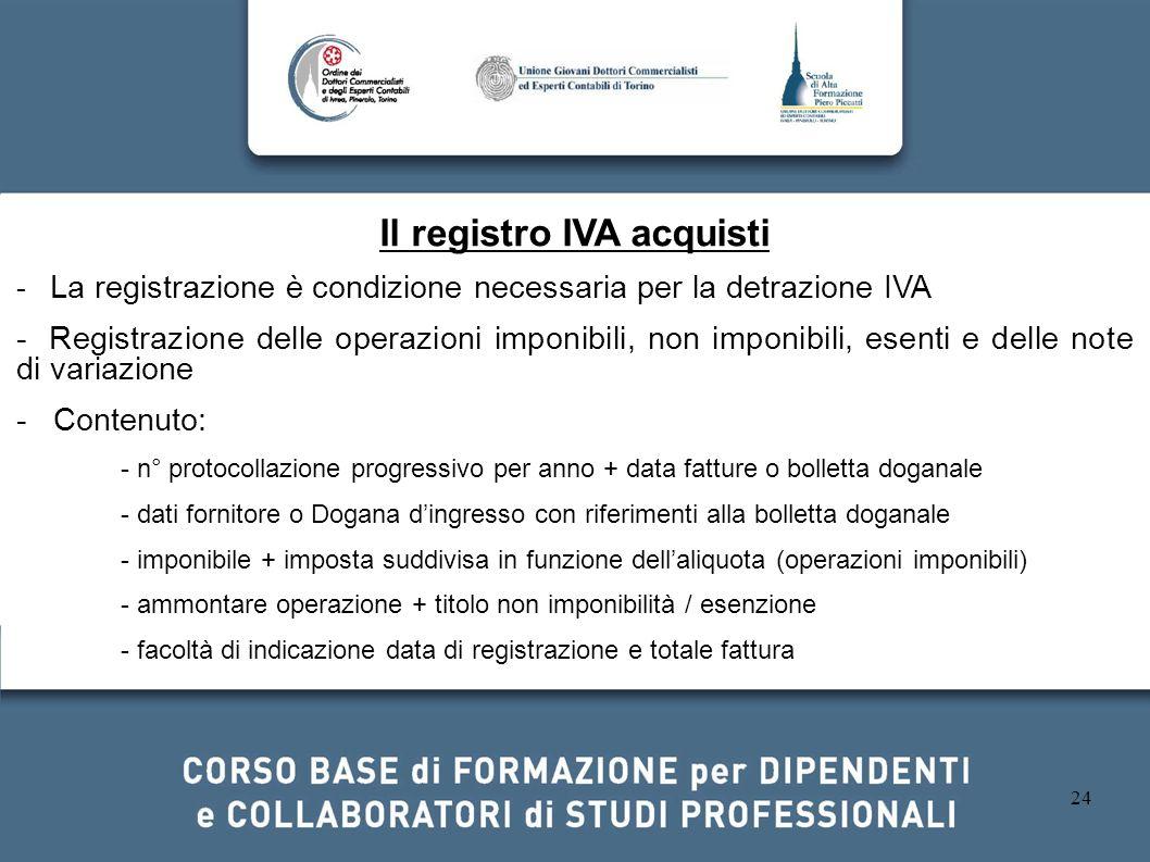 Il registro IVA acquisti