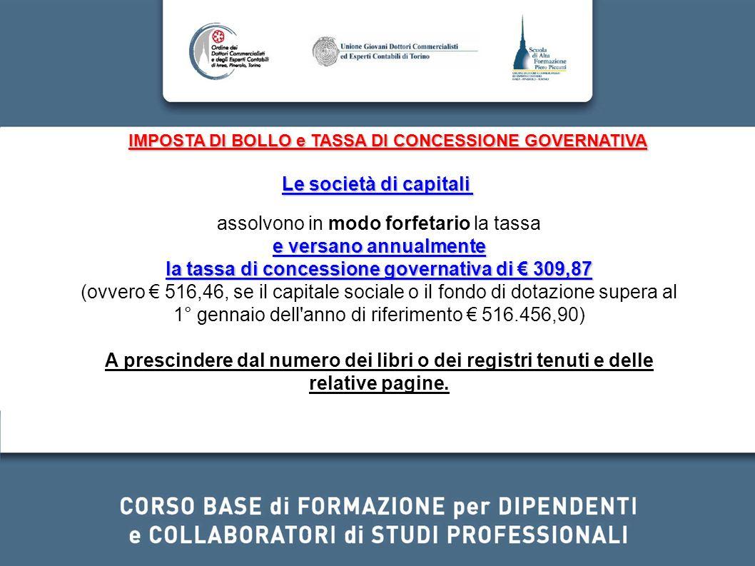 la tassa di concessione governativa di € 309,87
