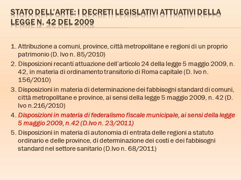 Stato dell'arte: I Decreti legislativi attuativi della legge n