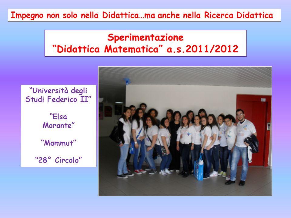 Sperimentazione Didattica Matematica a.s.2011/2012