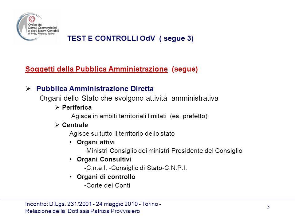 TEST E CONTROLLI OdV ( segue 3)