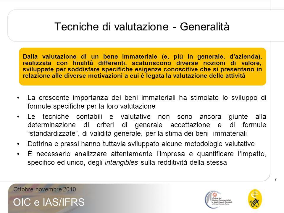 Tecniche di valutazione - Generalità