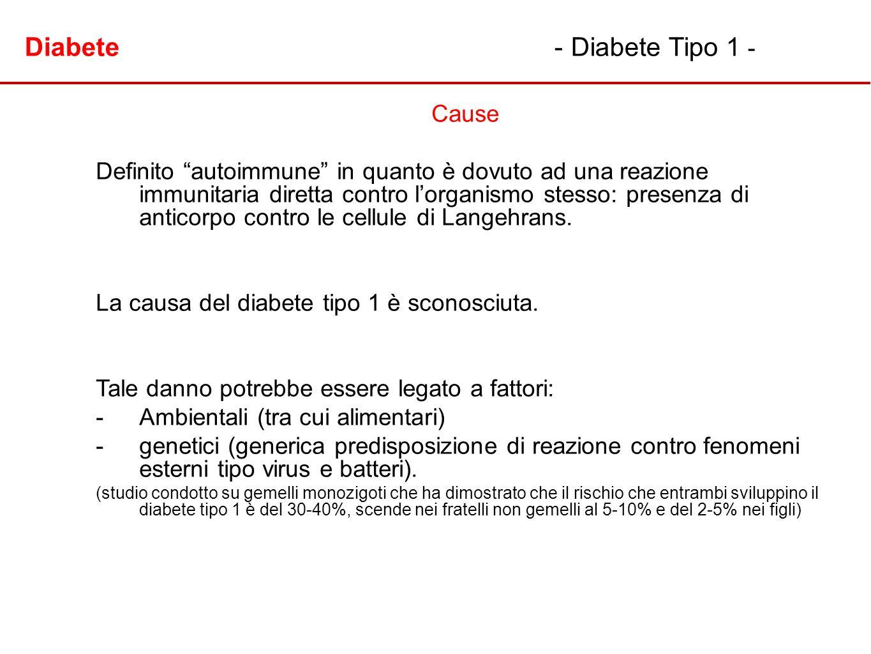Diabete - Diabete Tipo 1 -