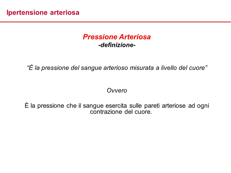 È la pressione del sangue arterioso misurata a livello del cuore