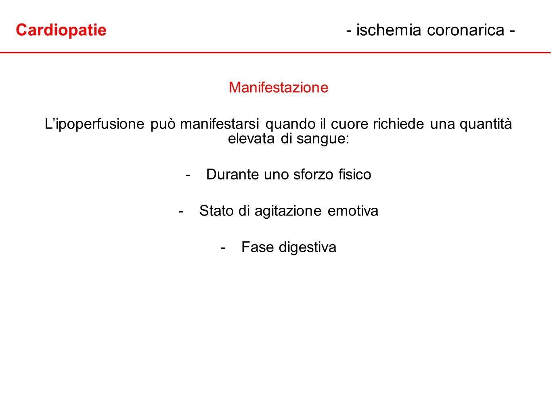 Cardiopatie - ischemia coronarica -