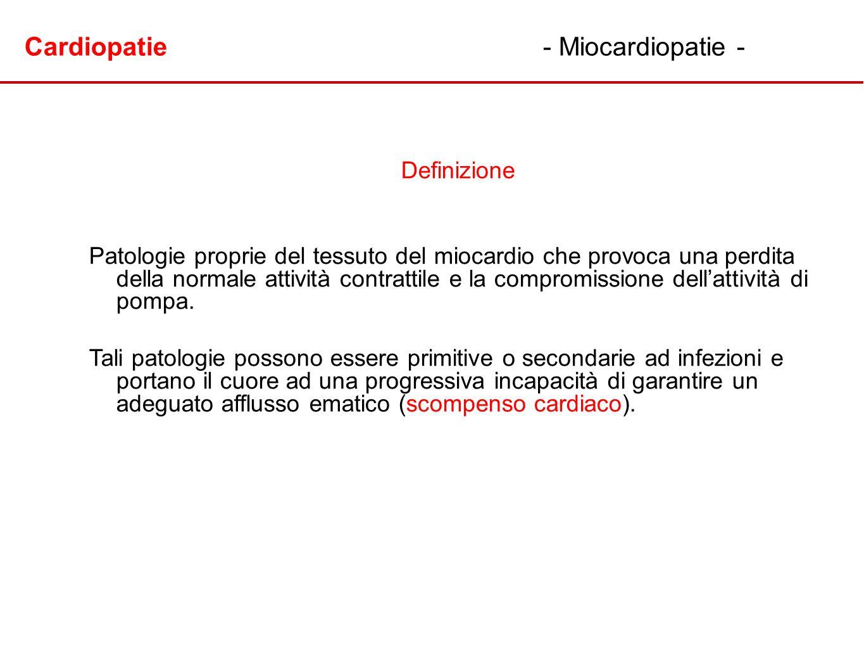 Cardiopatie - Miocardiopatie -