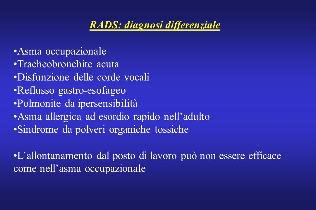 RADS: diagnosi differenziale