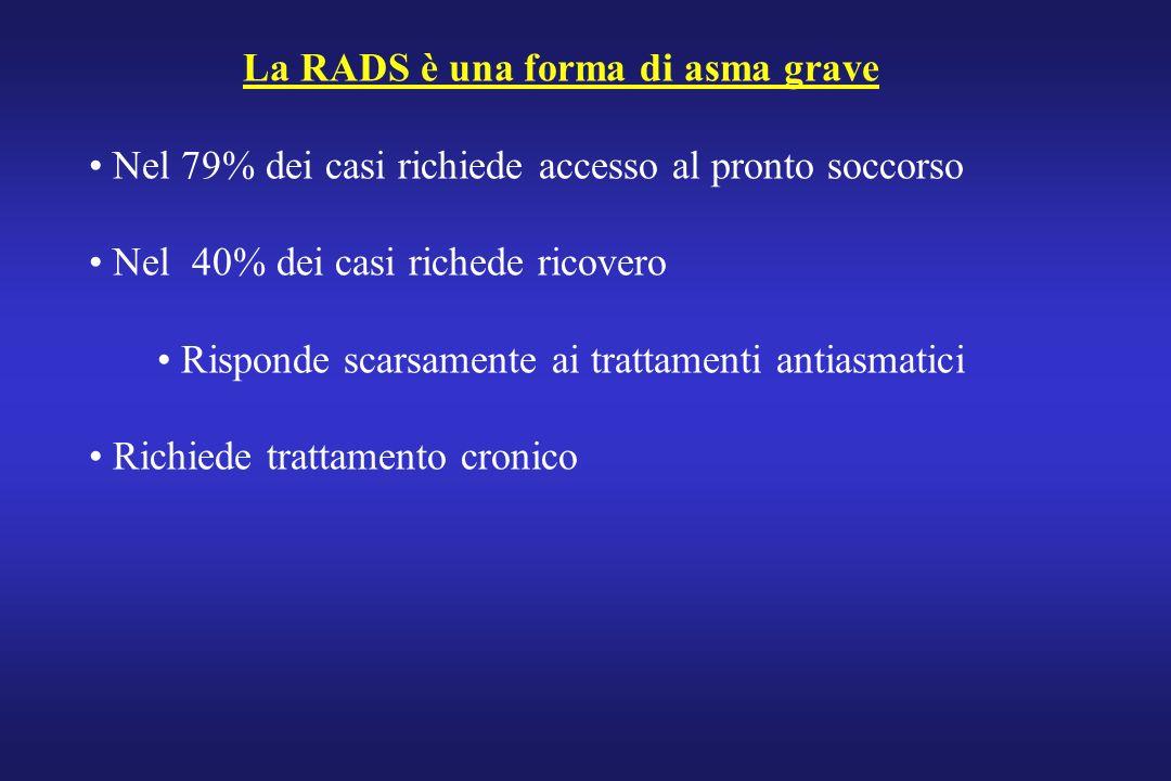 La RADS è una forma di asma grave