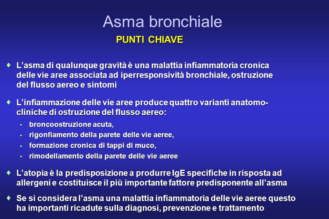 Asma bronchiale PUNTI CHIAVE ¨