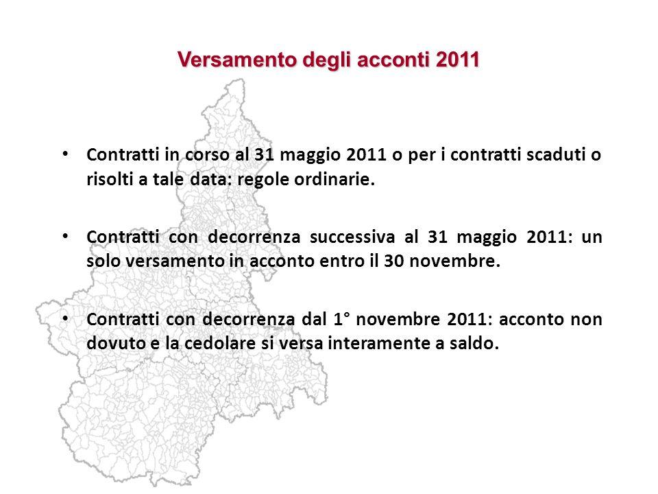 Versamento degli acconti 2011