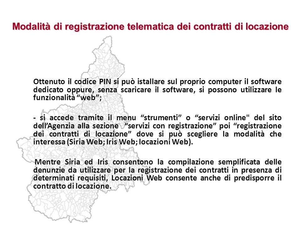 Modalità di registrazione telematica dei contratti di locazione