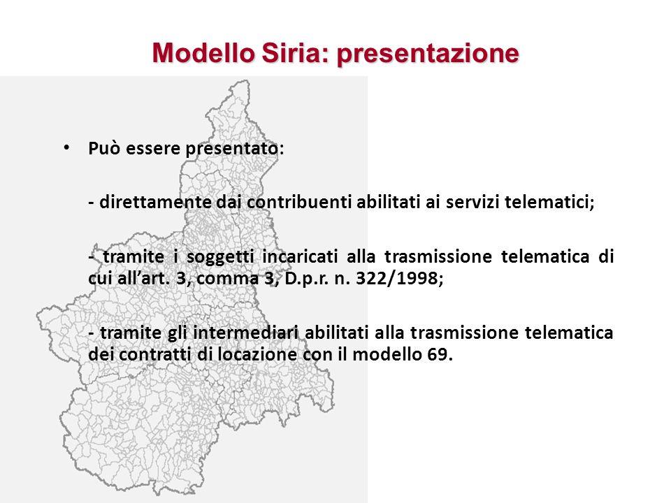 Modello Siria: presentazione