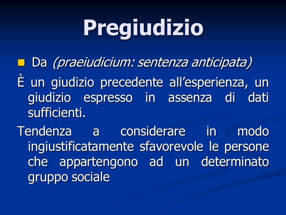 Pregiudizio Da (praeiudicium: sentenza anticipata)