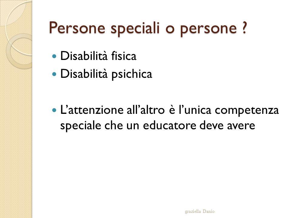Persone speciali o persone