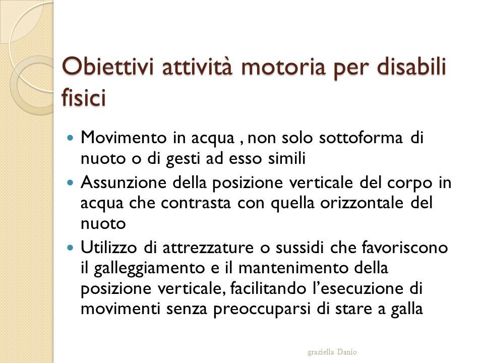 Obiettivi attività motoria per disabili fisici