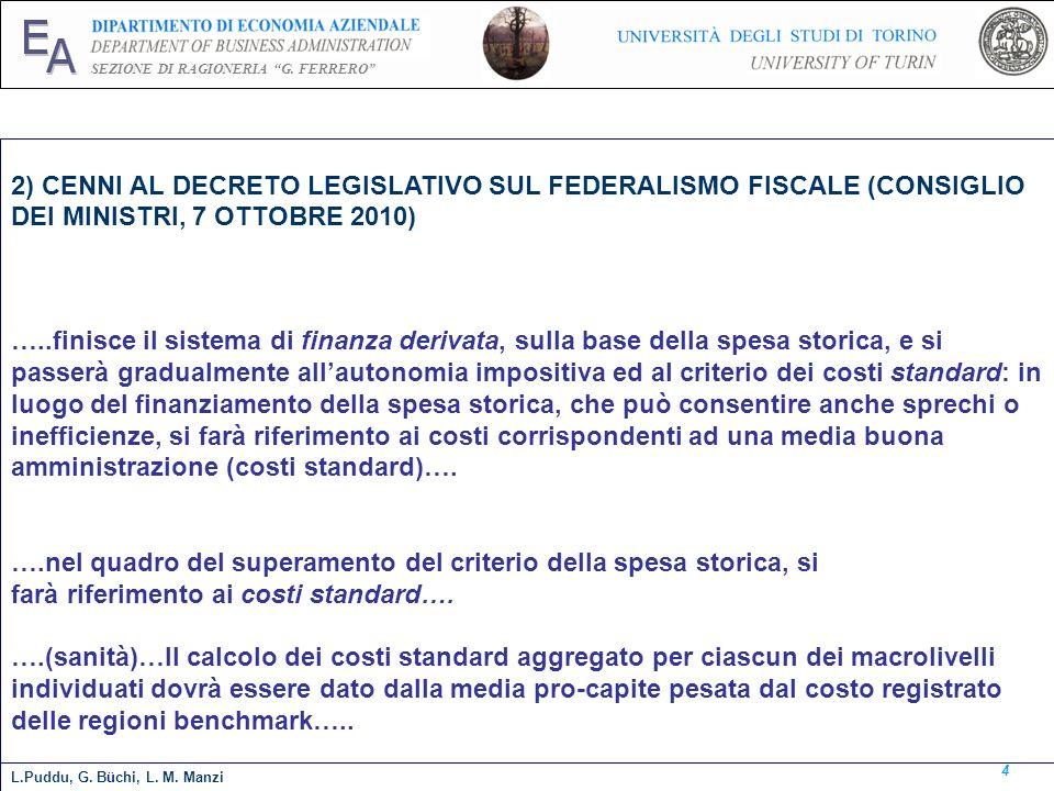 E A. SEZIONE DI RAGIONERIA G. FERRERO 2) CENNI AL DECRETO LEGISLATIVO SUL FEDERALISMO FISCALE (CONSIGLIO DEI MINISTRI, 7 OTTOBRE 2010)