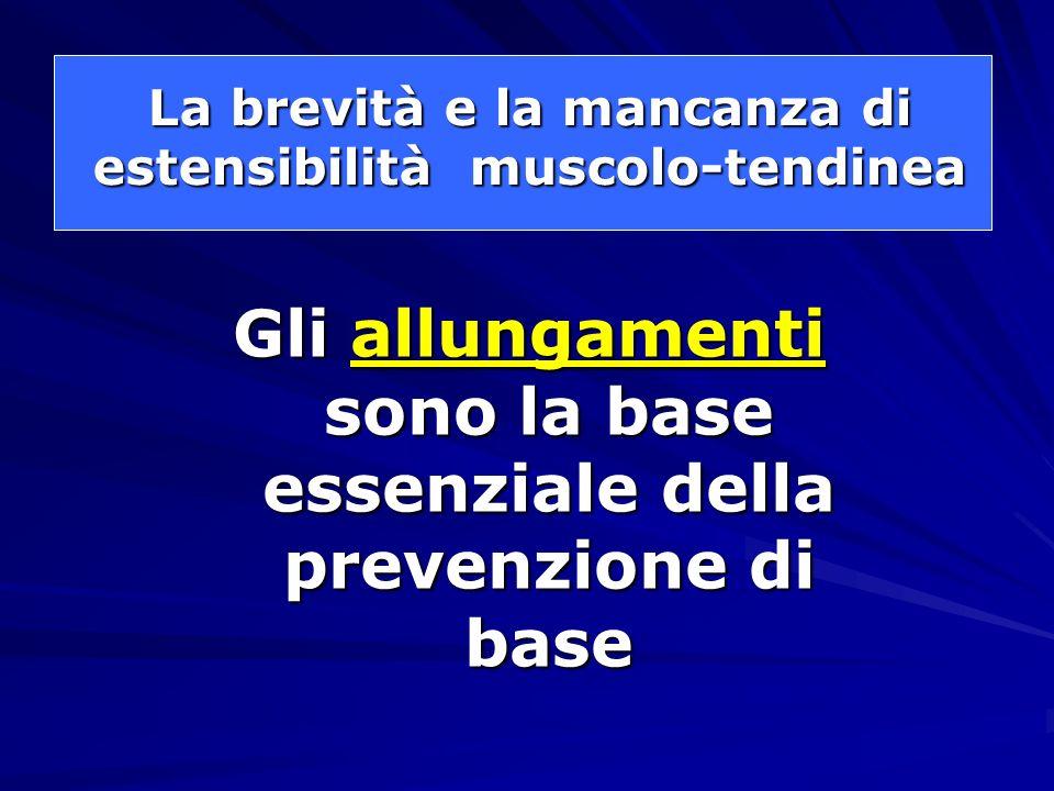 La brevità e la mancanza di estensibilità muscolo-tendinea
