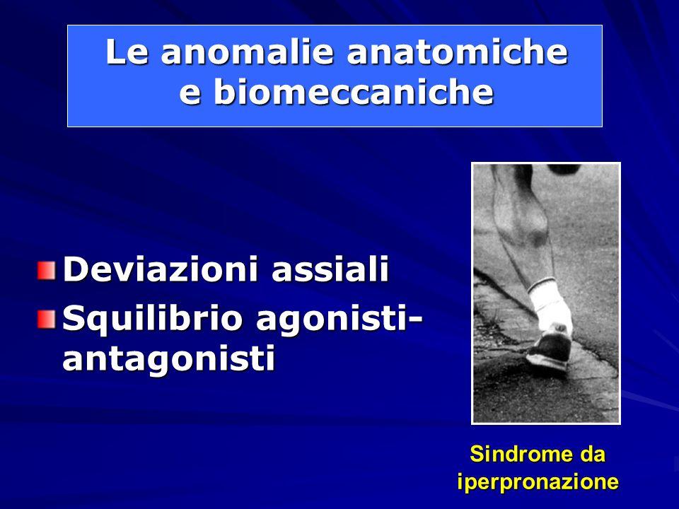 Le anomalie anatomiche e biomeccaniche