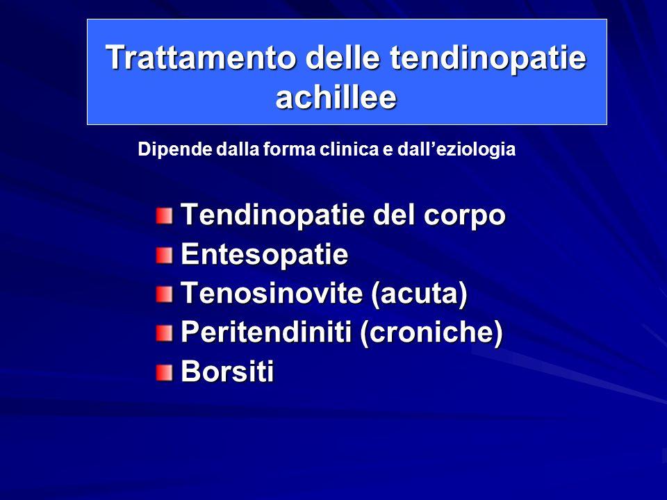 Trattamento delle tendinopatie achillee