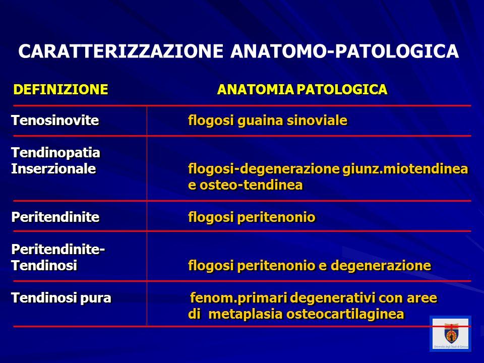 CARATTERIZZAZIONE ANATOMO-PATOLOGICA