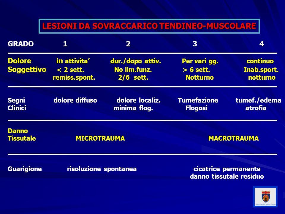 LESIONI DA SOVRACCARICO TENDINEO-MUSCOLARE