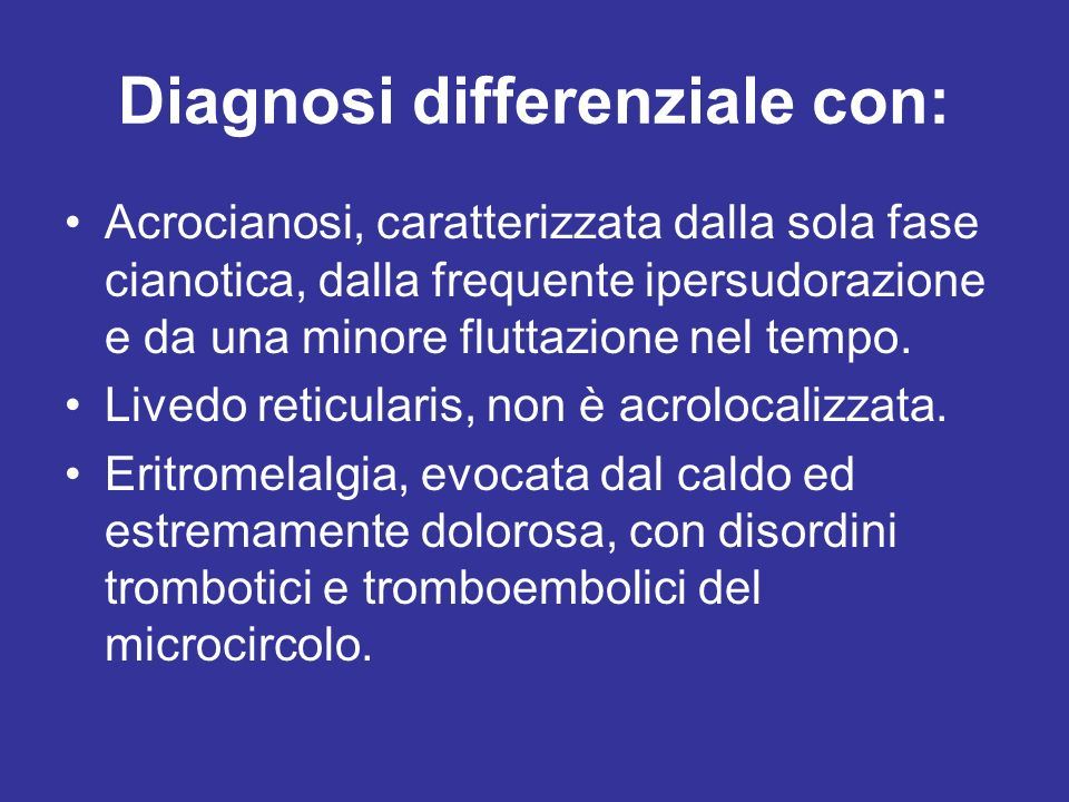 Diagnosi differenziale con: