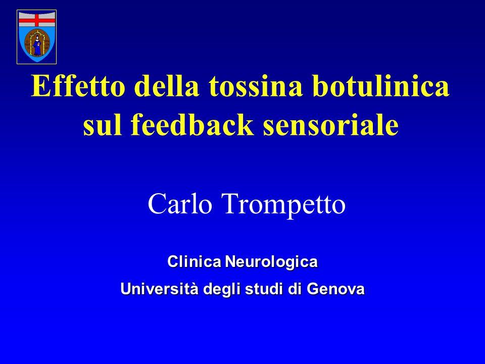 Effetto della tossina botulinica sul feedback sensoriale