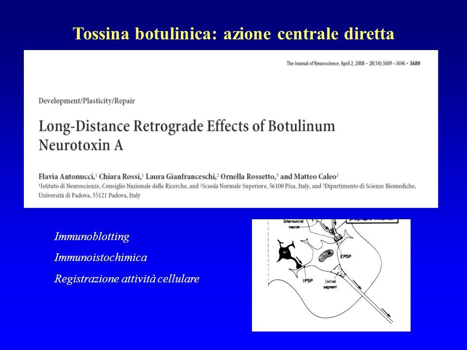 Tossina botulinica: azione centrale diretta