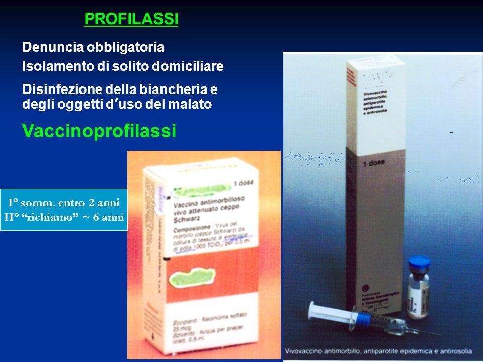 Vaccinoprofilassi PROFILASSI Denuncia obbligatoria