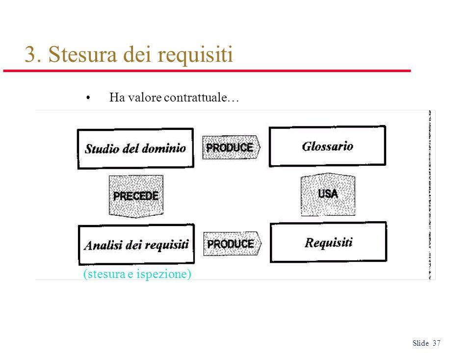 3. Stesura dei requisiti Ha valore contrattuale… (stesura e ispezione)