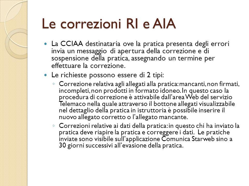 Le correzioni RI e AIA