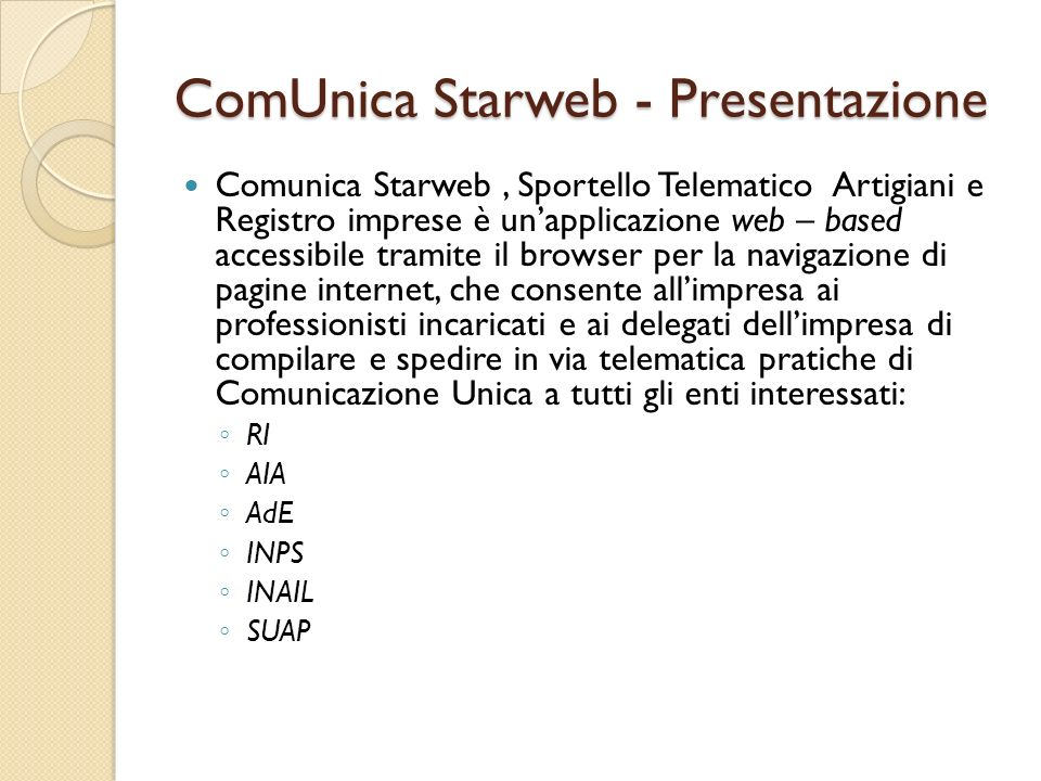 ComUnica Starweb - Presentazione