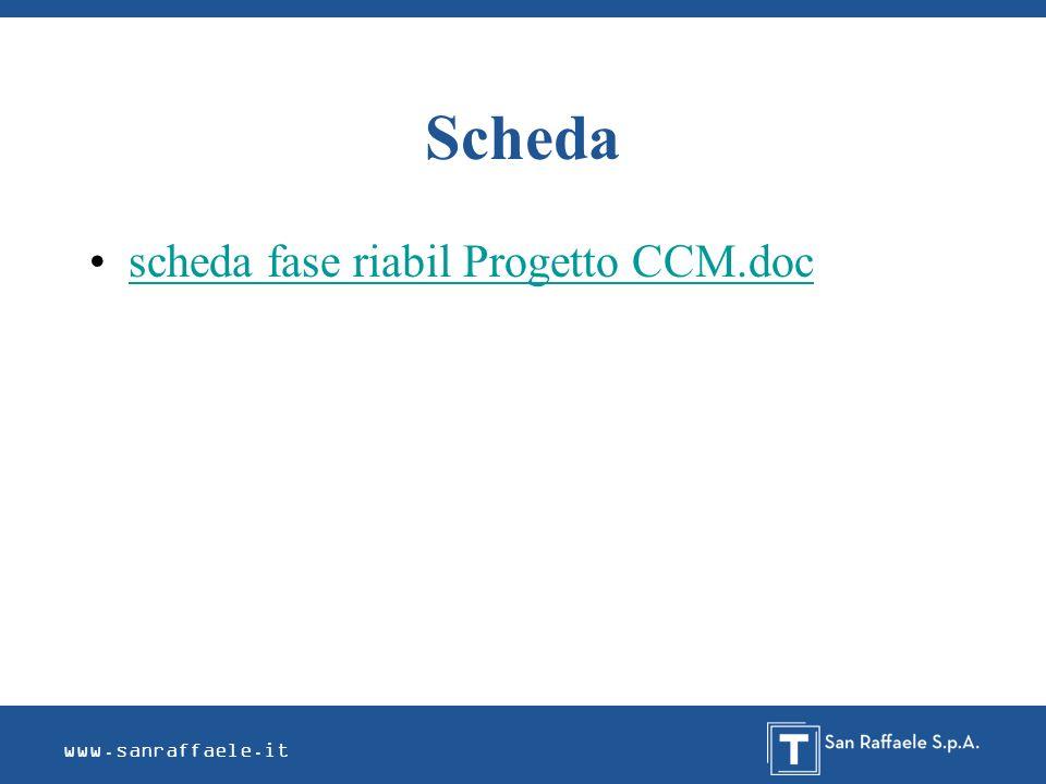Scheda scheda fase riabil Progetto CCM.doc www.sanraffaele.it