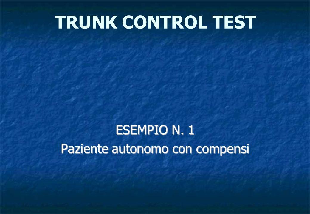 ESEMPIO N. 1 Paziente autonomo con compensi