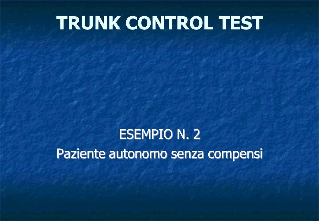 ESEMPIO N. 2 Paziente autonomo senza compensi