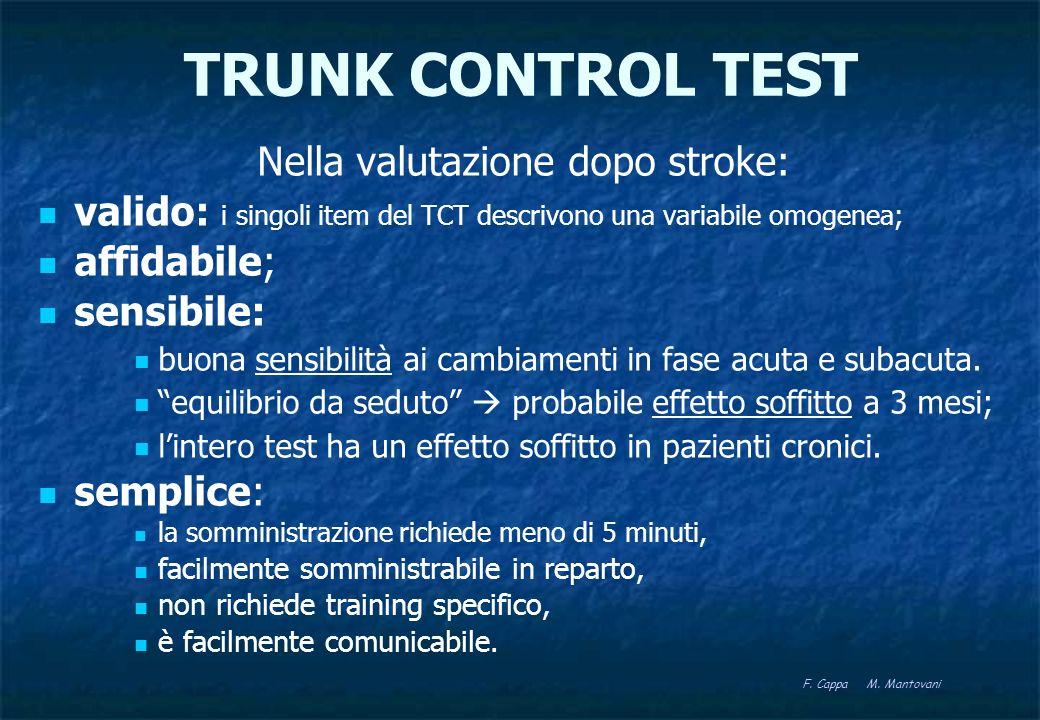 Nella valutazione dopo stroke: